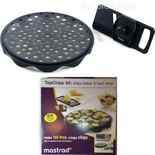 TopChips Kit Chips Maker Food Slicer Mastrad Microwave Cook Snacks Mandolin NEW
