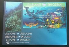 United Nation 1 Planet 1 Ocean 2010 Shark Turtle Reef Dolphin Turtle Coral (FDC)