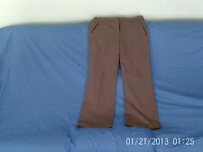 "Womens Size 14 - Taupe Brown Smart Trousers, 30"" length - BHS"