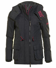 New Womens Superdry Unique Sample Ascent Windcheater Jacket Size Small Navy Marl