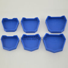 New Dental Lab Model Former Blue Base Molds Tool 6 pcs/kit