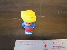 Fisher Price Little People Eddy Eddie Soccer player blue red shirt team olympic