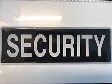 Encapsulated reflective Black 300mm badge SECURITY Back
