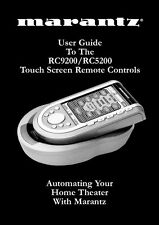 Marantz RC5200 Remote Control Owners Manual