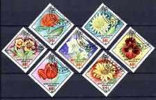 Flore - Fleurs Mongolie (60) série complète de 7 timbres oblitérés