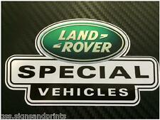 X3 52x30mm green LAND ROVER DEFENDER DISCOVERY SPECIAL VEHICLES DECAL STICKER