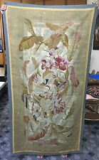 18TH CENTURY ANTIQUE  AUBUSSON FRENCH TAPESTRY GARDEN SCAN DECOR FRAGMENT