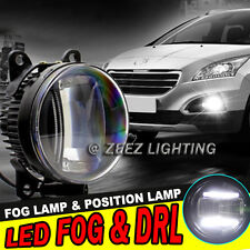 LED Projector Fog Driving Lamp w/ DRL Daytime Running Light For Cars Trucks SUVs
