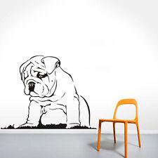 Languid Dog Vinyl Wall Sticker Bulldog Puppy Wall Decal Home Decor Art Mural
