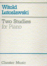 Witold Lutoslawski Two Studies For Piano Learn to Play Sheet Music Book