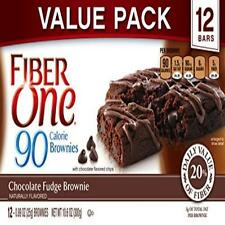 Fiber One 90 Calorie Soft-Baked Bars Chocolate Fudge Brownie 12 Count 10.6 Oz.