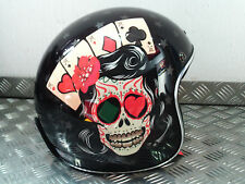 LS2 OF583 TATTOO GLOSS BLACK OPEN FACE JET CRASH HELMET SIZE LARGE