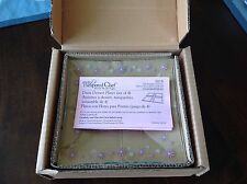 Pampered Chef Pink Daisy Dessert Plates - Set Of 4 - New In Box!
