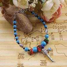 DIY NEW Fashion Free shipping Jewelry Tibet jade turquoise bead bracelet S243