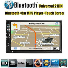 7'' HD Bluetooth Toque Pantalla Coche GPS Stereo Radio 2 DIN FM/MP5/MP3/USB/AUX