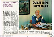 Coupure de presse Clipping 1978 (4 pages) Charles Trenet