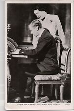 Vintage Postcard  King George VI Great Britian Queen Elisabeth The Queen Mother