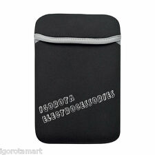 "Black 7 7.8"" inch Tablet Carry Pouch Bag Fr iPad Mini Galaxy Tab 2/Nexus7 UK"