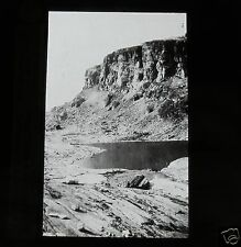 Glass Magic lantern slide LAKE IN GLACIAL ROKE BASIN C1910 GEOLOGY