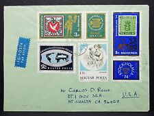 Magyar Posta Airmail Cover Sondermarken auf Ungarn Luftpost Brief USA (I-4629