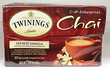 Twinings of London French Vanilla Chai Black Tea Bags 1.41 oz