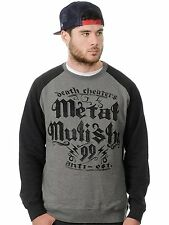 2016 NWT MENS METAL MULISHA NINETY NINE RAGLAN CREW SWEATER $48 L charcoal
