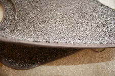 set of two wave edge mats / rugs, brown fleck soft pile carpet, *CLEARANCE* 1190