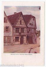 AK Marbach --Schillers Geburtshaus-- um 1917