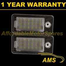 2X FOR AUDI A3 A4 A6 A8 S3 S4 S6 S8 6500K 18 WHITE LED NUMBER PLATE LIGHT LAMP