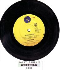 "MADONNA  Hanky Panky  7"" 45 rpm vinyl record + juke box title strip"