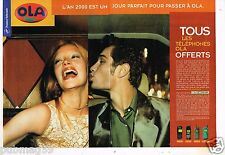 Publicité Advertising 1999 (2 pages) France Telecom .... téléphone Ola