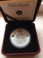 2009 RCM Summer Moon Mask SIlver Coin $20 Royal Canadian Mint