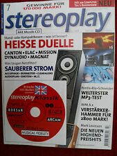 STEREOPLAY 7/99,ELAC ELT 10, CL 82i,MISSION 702e,750,AVM A 2,LEVINSON 37,360,380