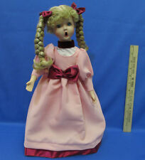 Animated Christmas Caroling Doll Victorian Battery Operated Moving Arms & Head