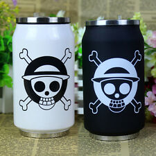 Anime One Piece Stainless Steel Vacuum Cup Bottle Cafe Tea Thermos Gift Box B/W
