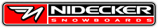 "Nidecker Snowboards Snowboard Car Bumper Window Sticker Decal 8""X1"""