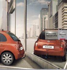 NISSAN Accessorio sensori di parcheggio 2008-09 UK Opuscolo Vendite sul mercato MICRA QASHQAI