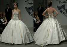 Bling custom made Pnina Tornai inspired wedding dress. Custom size and color.