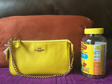 NWT Coach 53077 Nolita Wristlet Pebble Leather Yellow