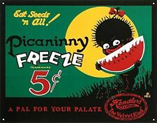PICANINNY FREEZE 16 x 12 Vintage Style Metal Signs Ice Cream Black Americana