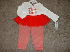 Carter's Baby Girls Christmas Merry & Bright Outfit Set Size 3M 3 Months NWT NEW