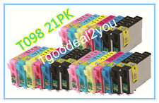 21 Pack of T098 98 Non-OEM INK FOR EPSON Artisan 725 810 835