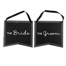 Double Sided Chalkboard Wedding Chair Signs by Celebrate It-Bride and Groom-NEW