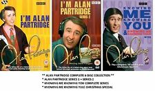 ALAN PARTRIDGE COMPLETE SERIES 1 & 2 KNOWING YOU KNOWING ME YULE NEW UK R2 DVD