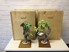 Vtg Royal Worcester Dorothy Doughty Pair Bird Figurines Downy Woodpecker w Boxes