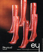 PUBLICITE ADVERTISING 074  1975  HEYRAUD   chaussures BOTTES