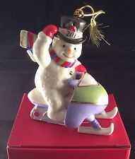 FREE S&H Lenox 2013 Annual Snowmobiling Snowman Ornament New In Box PERFECT