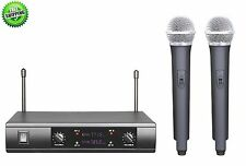 UHF DUAL CH CORDLESS WIRELESS KARAOKE MICROPHONE SYSTEM FOR AKG WIRELESS TYPE