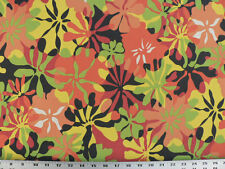 Drapery Upholstery Fabric Indoor/Outdoor Waterproof Tropical Floral - Red