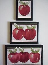 Apple Signs Kitchen Wall Decor country farm house style pictures red apples